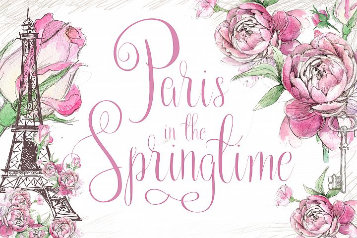 Paris in the Springtime Script Font