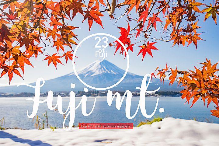 23 Fuji mt. & Autumn season set (Discount from 19$)