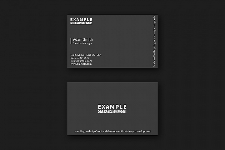 20 Modern Business Card Layouts