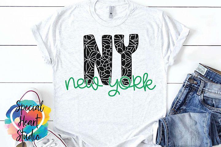 New York Mandala - A State SVG Cut File