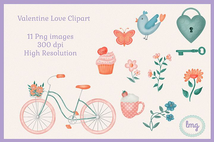 Valentine Love Clipart Sublimation