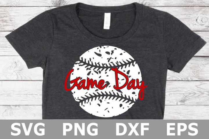 Game Day Grunge Baseball - A Sports SVG Cut File