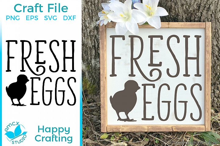Fresh Eggs - A Farm Kitchen SVG File
