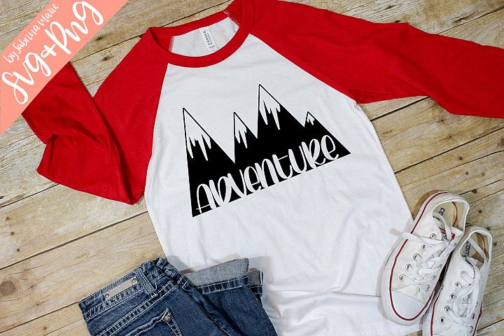 Adventure|Handdrawn Mountain Graphic|Mountain Range|SVG|PNG