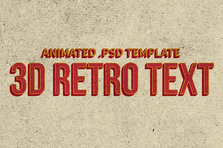 Animated Retro 3d Text