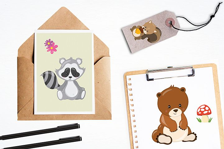 Woodland Animals graphics and illustrations - Free Design of The Week Design2