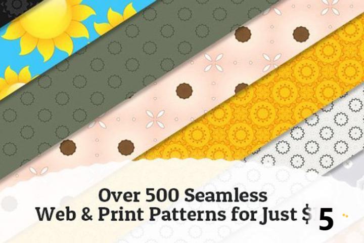 500 Seamless Web & Print Patterns