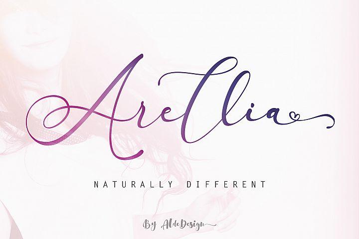 Arellia Script // Luxury Font