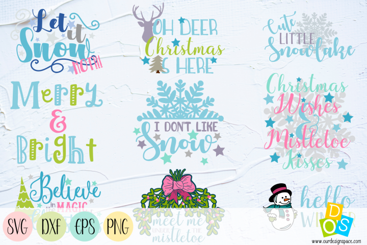 Christmas Quotes SVG, PNG, DXF and EPS files