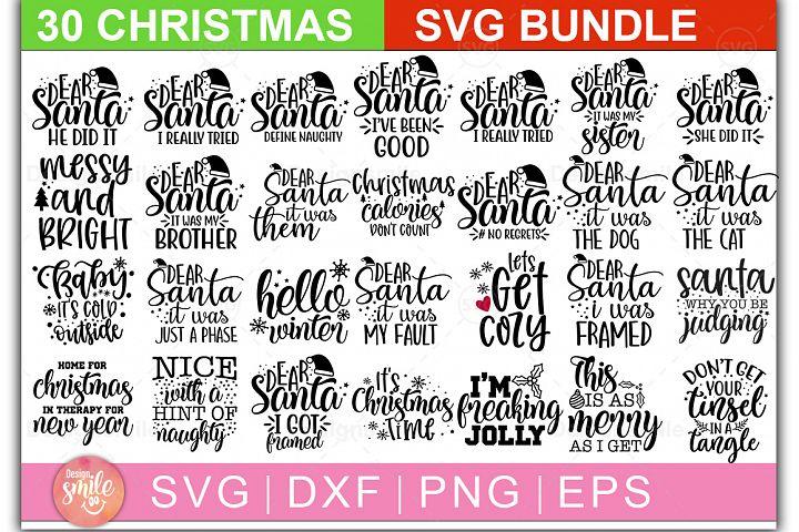 Christmas SVG Bundle |30 Designs