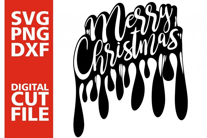 Merry Christmas svg, Dripping svg, Christmas, Afro woman svg