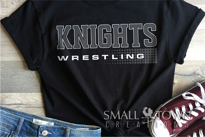 Kinght Wrestling, Headgear, Sport, Logo, PRINT, CUT & DESIGN