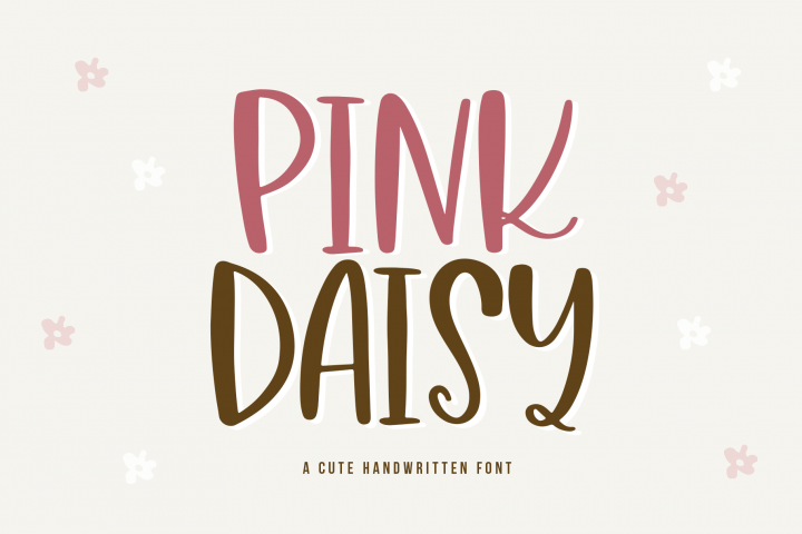 Pink Daisy - A Quirky & Chunky Handwritten Font