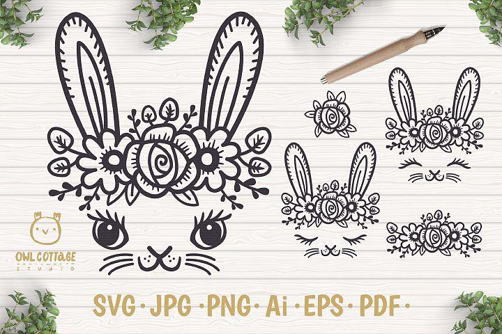 Easter Bunny Face svg , Easter Svg, Easter Decor