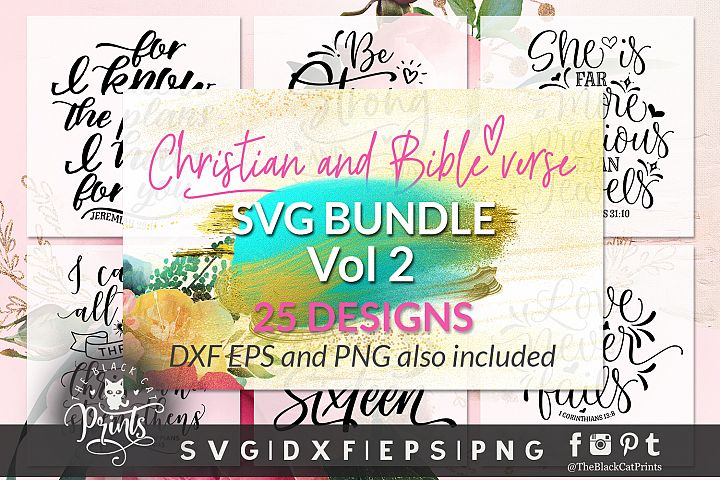 Christian SVG Bundle VOL 2 DXF PNG EPS
