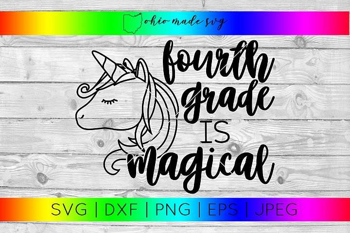Fourth Grade Is Magical SVG
