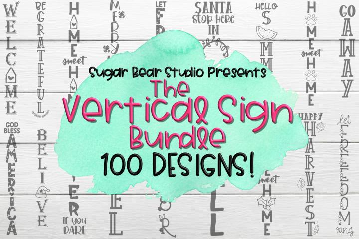 Vertical Porch Sign Bundle - 100 Porch Sign SVGs