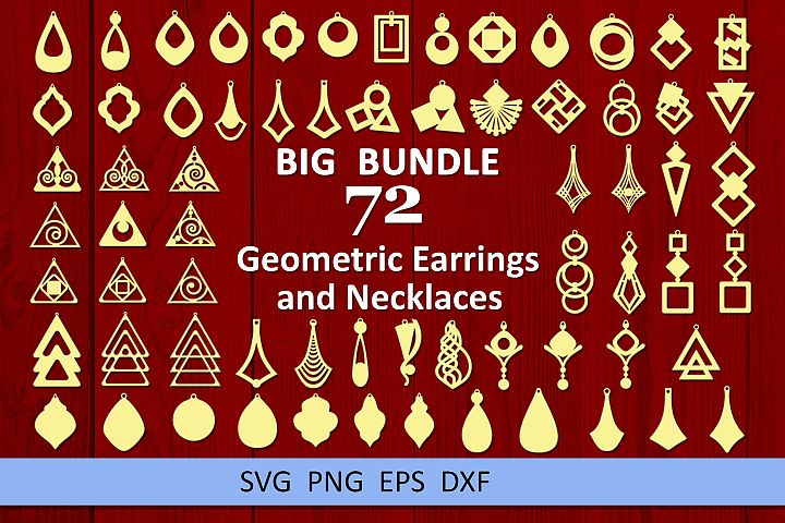 72 Leather earring bundle svg Geometric earrings svg