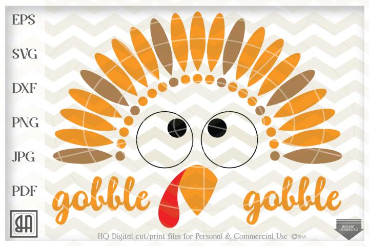 Turkey Face SVG , Turkey SVG File, Thanksgiving SVG, Turkey