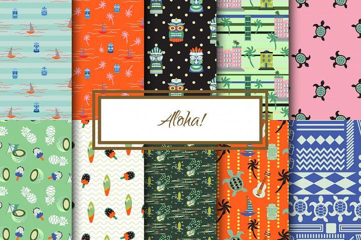 Aloha! Seamless Patterns Set