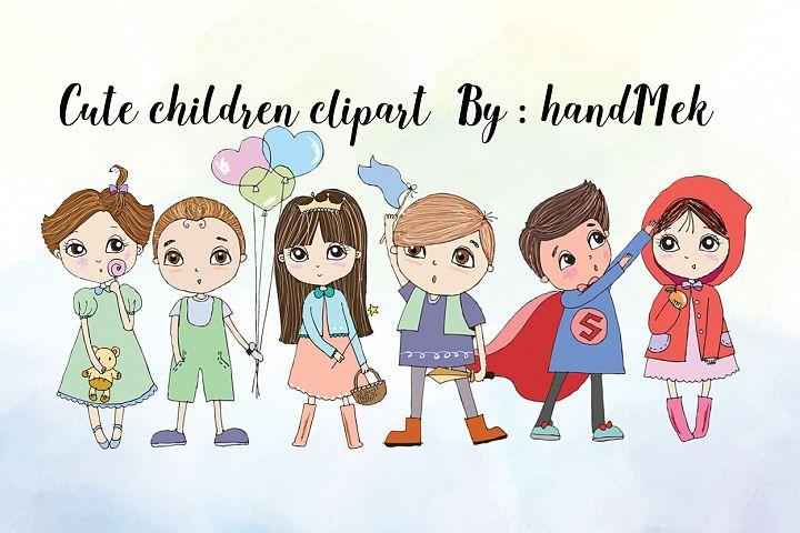 Cute Children clipart
