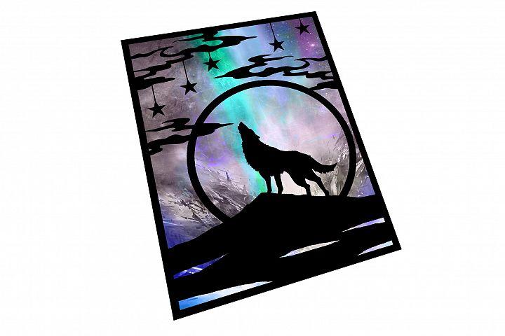 Wolf Papercut Template