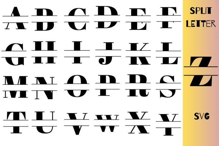 Split Letter SVG A-Z ForCricut|Full Alphabet Split Letter