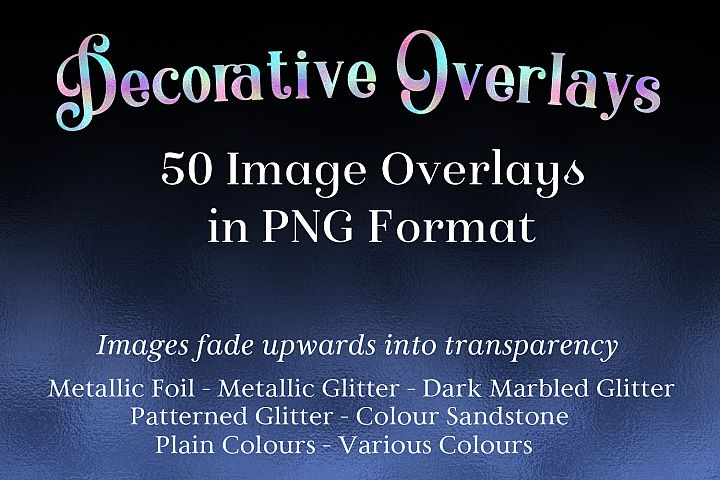 Decorative Overlays - 50 Image Overlays in PNG Format