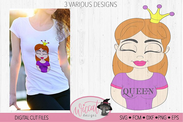 Girl queen cartoon, queen, Kingsday svg,