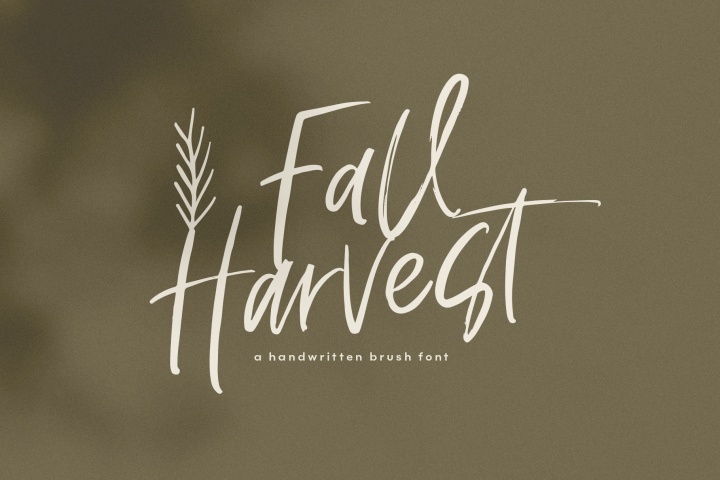 Fall Harvest - A Handwritten Script Font with extras!