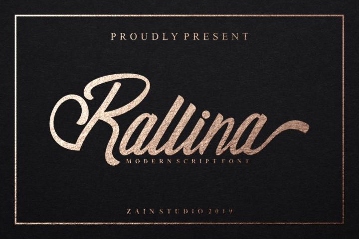 Ralline Modern Script Font
