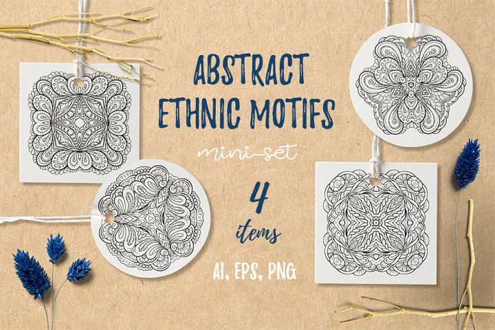 Abstract ethnic motifs mini-set