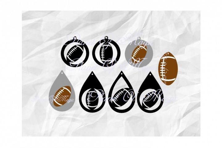 Football Earrings Svg, Teardrop Earring Svg, Sport Earrings