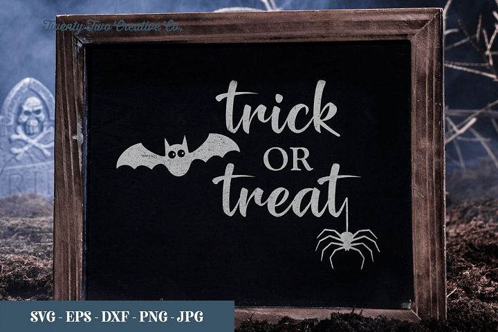 Trick or Treat Halloween - SVG, EPS, DXF, PNG, JPG