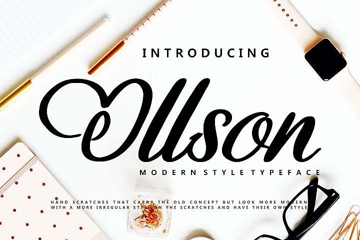 Ollson   Modern Style Typeface