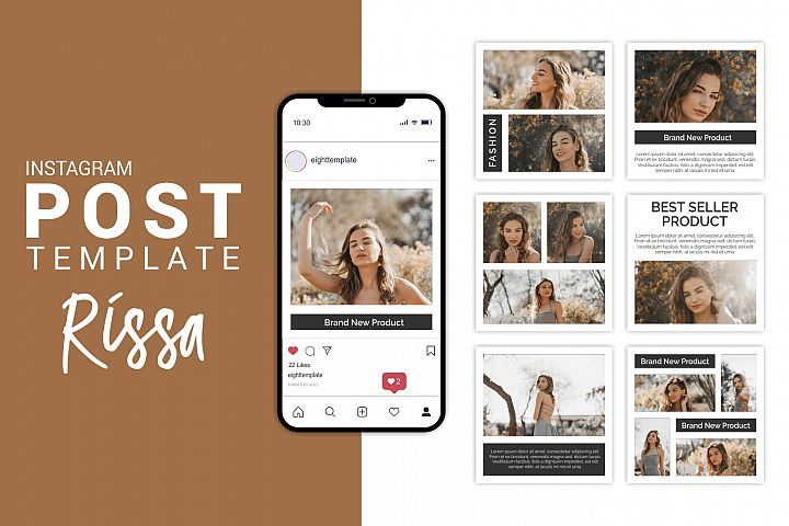 Rissa - Fashion Instagram Post Template