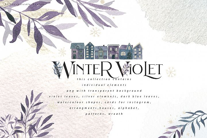 Winter Violet art collection