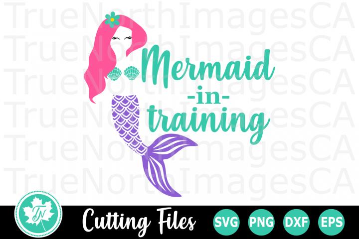 Mermaid in Training - A Summer SVG Cut File