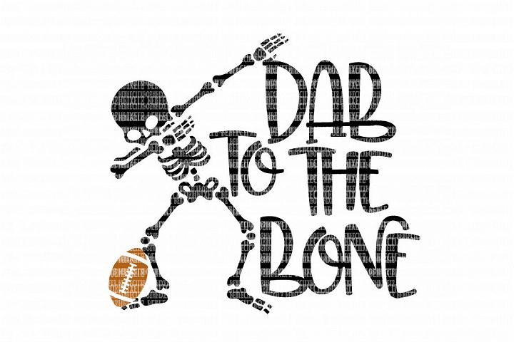 Dab To The Bone Football SVG example 1