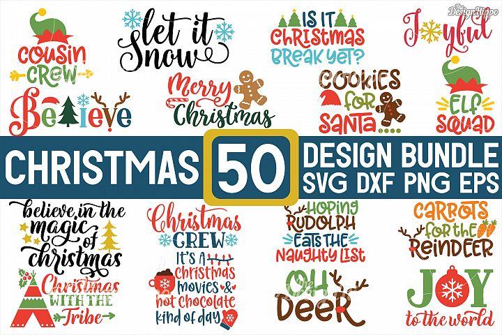 MEGA Christmas Bundle SVG PNG DXF EPS Cricut Cutting Files