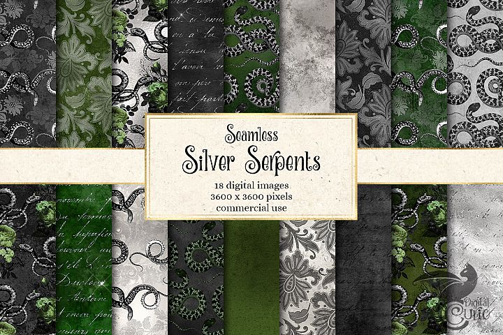 Silver Serpents Digital Paper