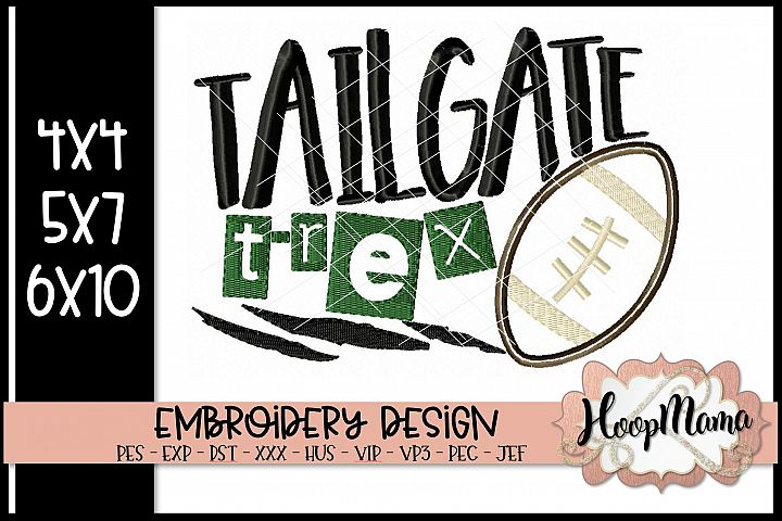 Tailgate T-Rex - Football Embroidery