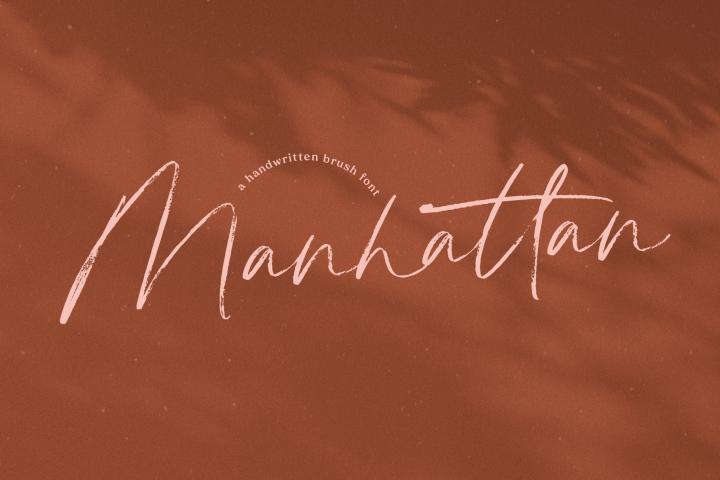 Manhattan - A Brush Script Font