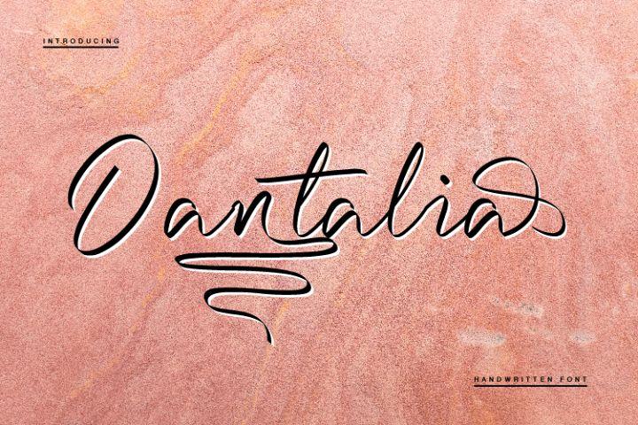 Dantalia - Handwritten Font