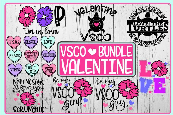 VSCO Valentine BUNDLE - 8 DESIGNS - SVG PNG EPS DXF