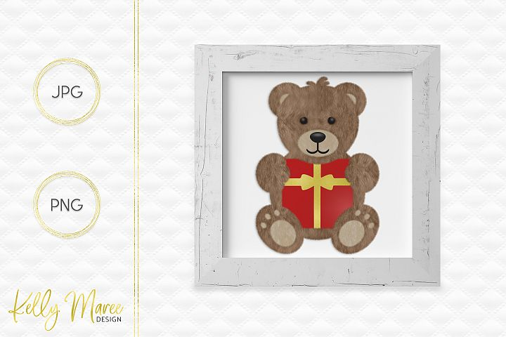 Christmas Teddy Bear Graphic