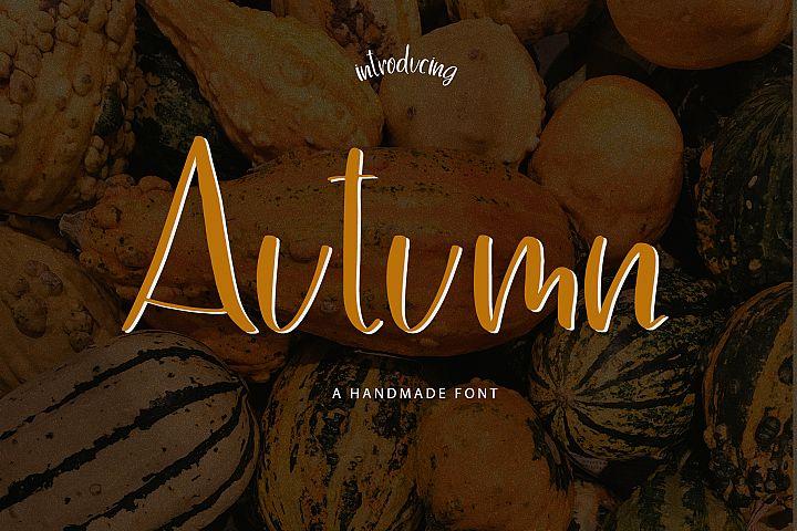 Autumn Handmade Font
