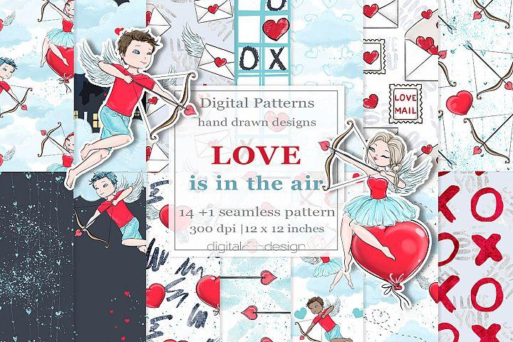 Love is in the air - Digital Pattern