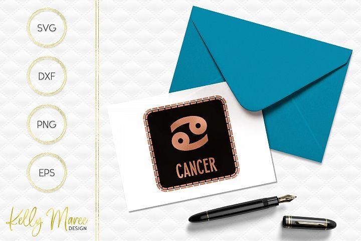Cancer Zodiac SVG File