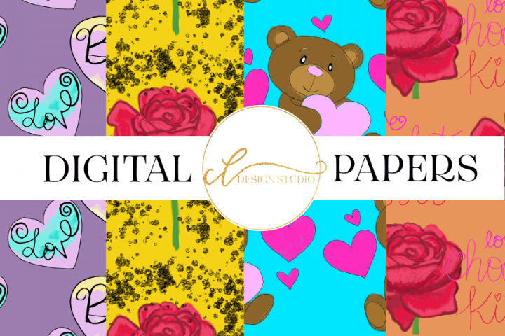Be Mine Digital Papers